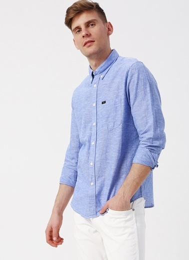 Lee&Wrangler Lee L880NDLI Mavi Erkek Gömlek Mavi